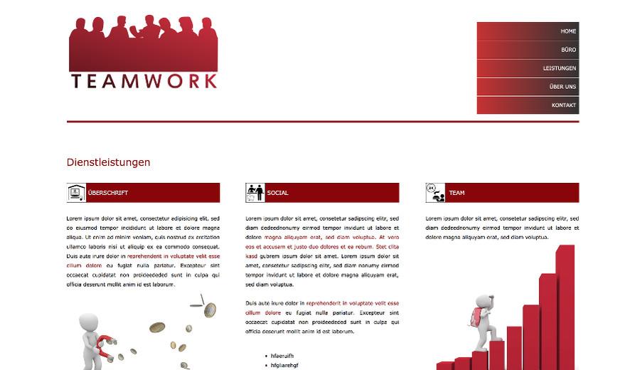 Vorlagen / Templates für Webseiten